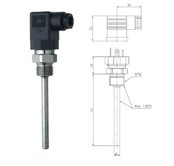 热电阻温度传感器 type: RT-BP2