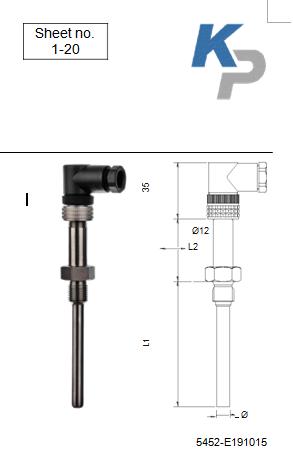 热电阻温度传感器type: RT-B-BP1